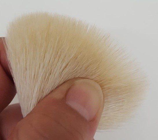 熊野筆洗顔ブラシの毛先